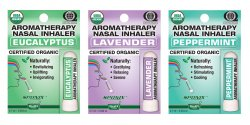 Eucalyptus, Lavender and Peppermint Nasal Inhaler Set